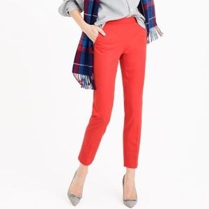 J.Crew Red Martie Pants size 0